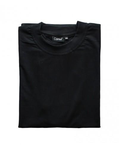 Sort t-shirt m. o-hals fra Camus