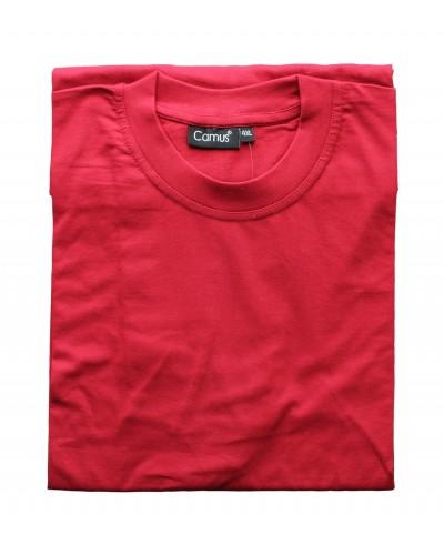 Rød t-shirt m. o-hals fra Camus