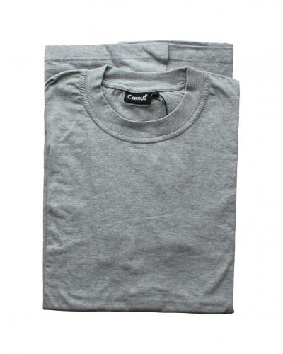 Grå t-shirt m. o-hals fra Camus